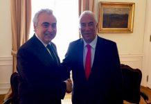 Fatih Birol, Director da AIE e António Costa, Primeiro-Ministro