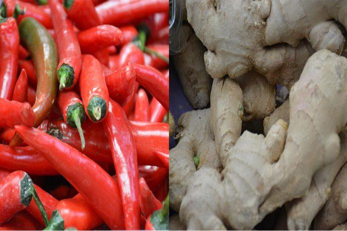 Gengibre e pimenta chili juntos diminuem risco do cancro