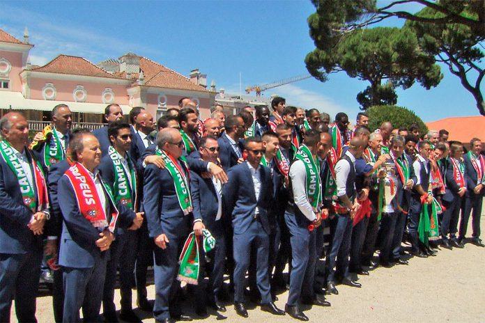 Campeões Europeus recebidos no Palácio de Belém