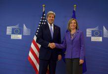 Conferência de imprensa de Federica Mogherini (UE) e John KERRY (EUA)