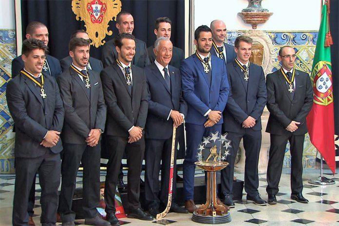 Seleção de hóquei em patins recebe Ordem do Mérito