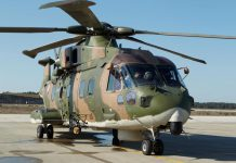 Manutenção dos helicópteros EH-101