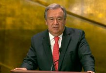 António Guterres no debate na ONU