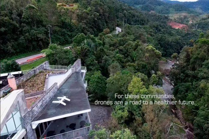'Drones' transportam amostras de sangue para análise