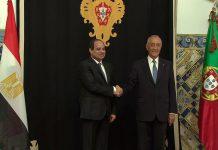 Presidente do Egito em Portugal