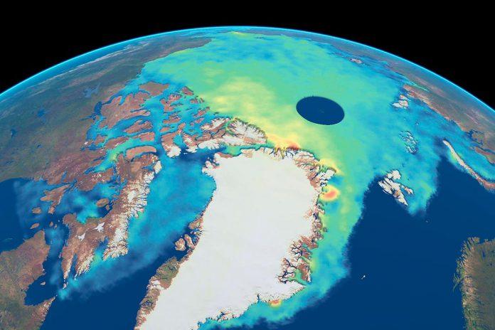 Imagem do CryoSAT da Gronelândia