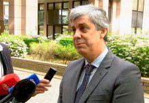 Ministro das Finanças, em declarações à entrada para o Conselho Europeu de Economia e Finanças