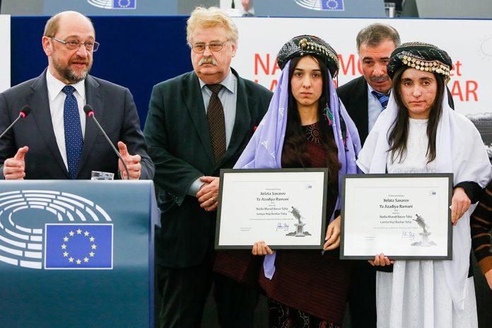 Nadia Murad e Lamiya Aji Bashar recebem prémio Sakharov