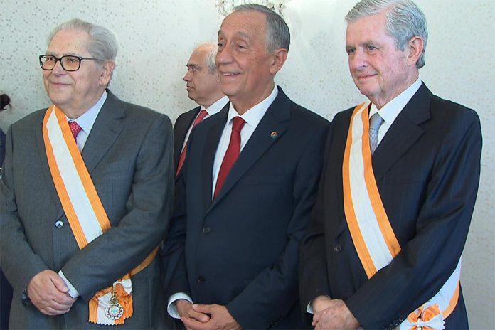 Marcelo Rebelo de Sousa (ao centro)António Arnaut (esquerda), e João Lobo Antunes (Direita) Foto: TV Europa