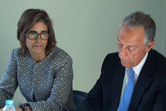 Presidente da República, Marcelo Rebelo de Sousa e Secretária de Estado do Ensino Superior, Maria Fernanda Rollo