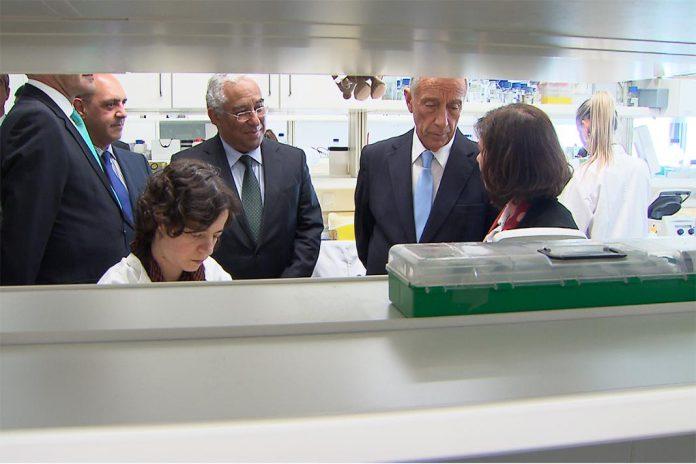 Presidente da Repúbilca e Primeiro-Ministro na Inauguração do i3S