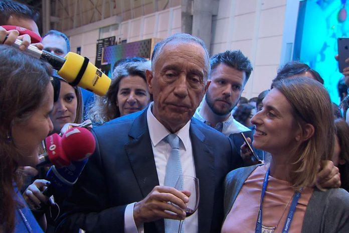Marcelo fez visita rápida ao Web Summit