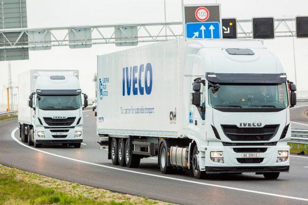 Camiões em pelotão com condução semiautomática