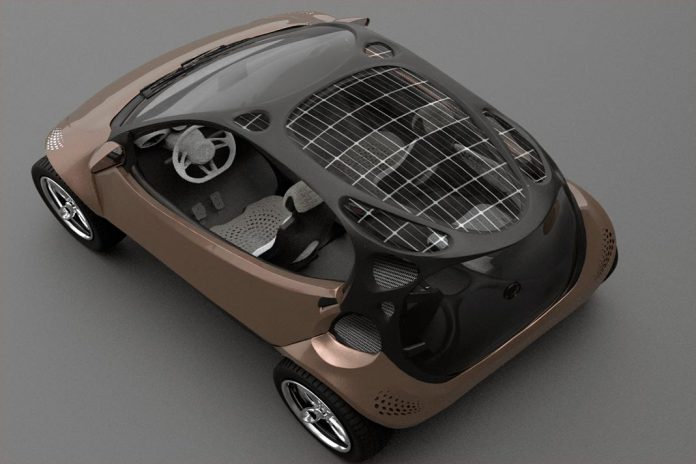 Design de microcarro elétrico