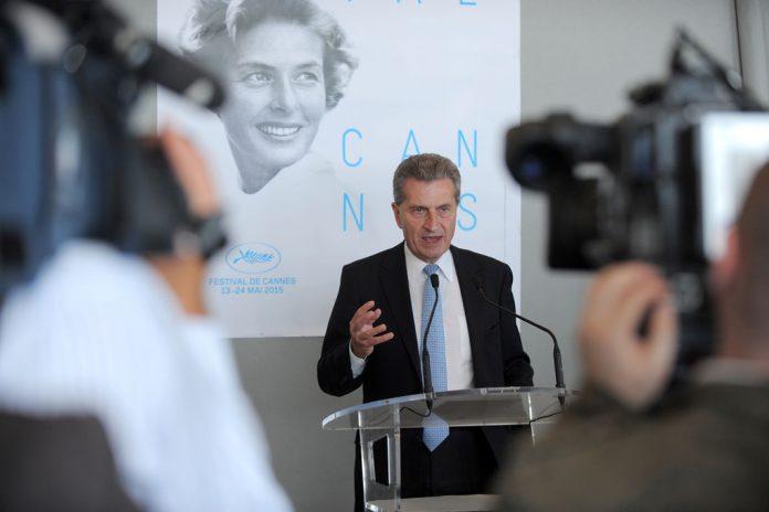 Günther H. Oettinger em Cannes, 2015