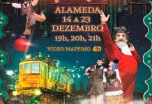 Espetáculo multimédia 'Lisbonland' na Fonte Luminosa da Alameda
