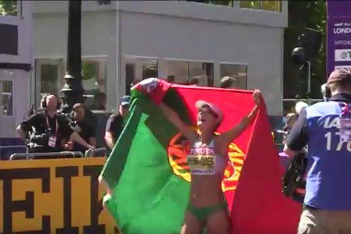 Inês Henriques conquista ouro nos Mundiais de Atletismo de Londres
