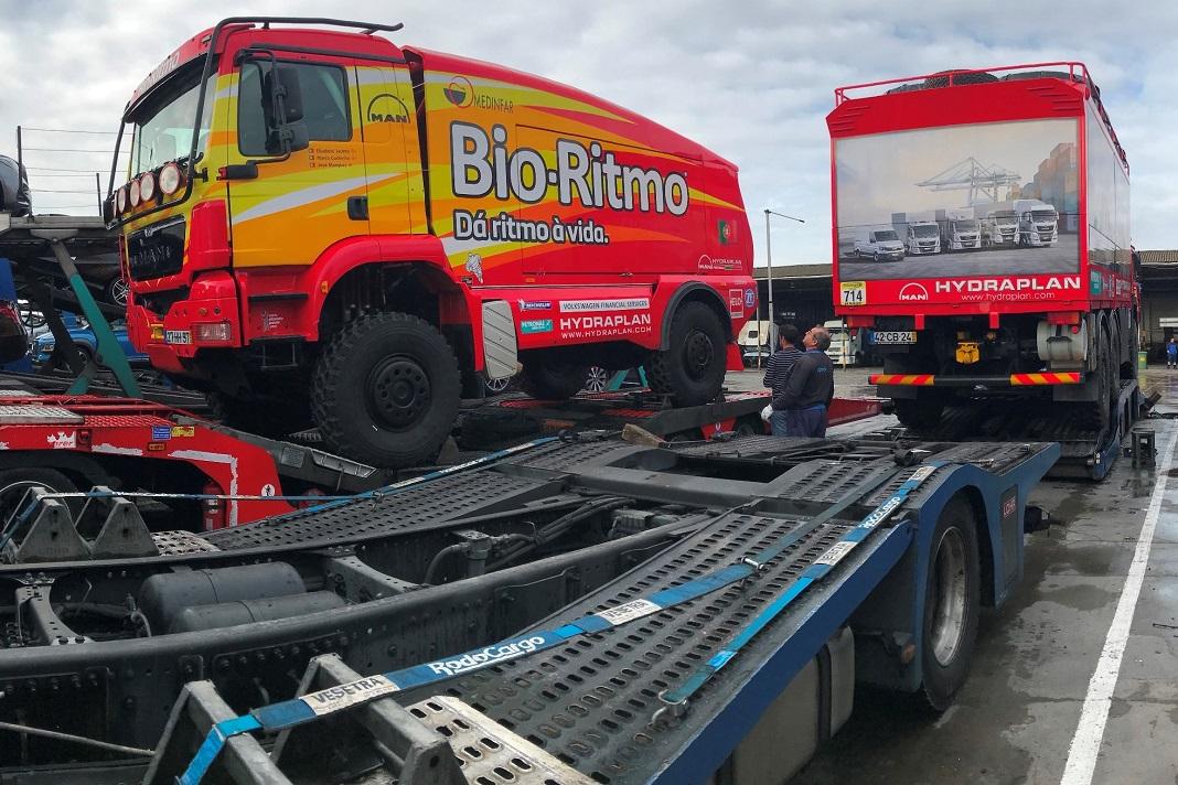 Camiões da equipa Bio-Ritmo de Elisabete Jacinto