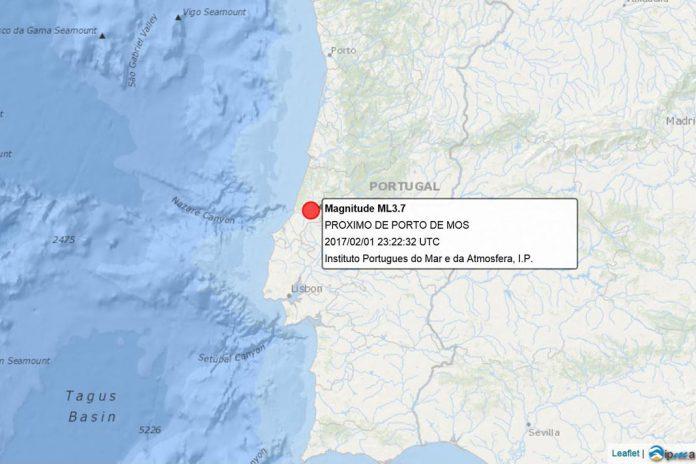 Abalo sísmico sentido em Porto de Mós