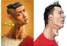 Caricaturas de Cristiano Ronaldo