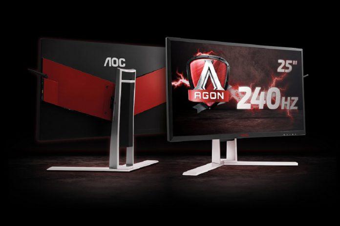Monitores para jogos da AOC a 240 Hz