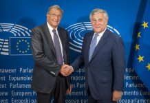 Antonio Tajani, Presidente do PE e Guido Rasi, Diretor da EMA