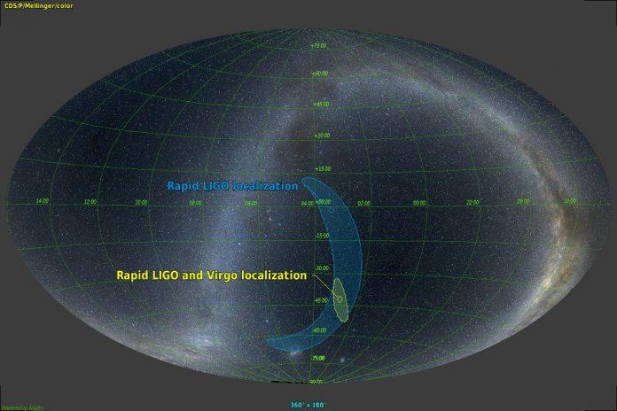 Detetadas ondas gravitacionais pela colisão de duas estrelas de neutrões