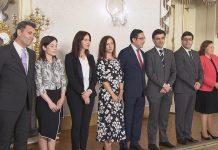 Novos Secretários de Estado durante a posse no Palácio de Belém