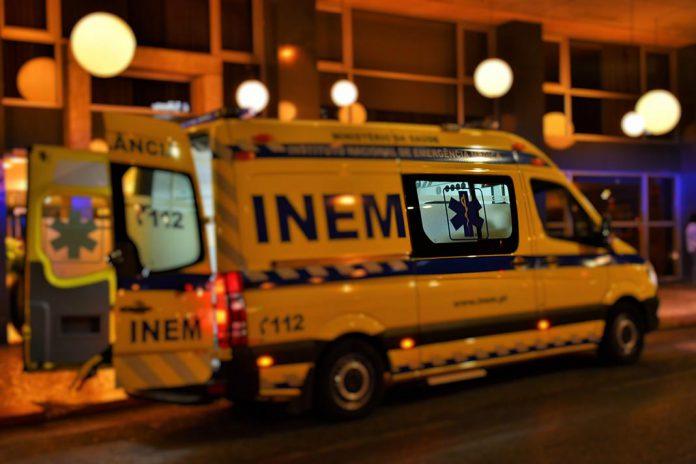 Ambulância do IMEM em intervenção