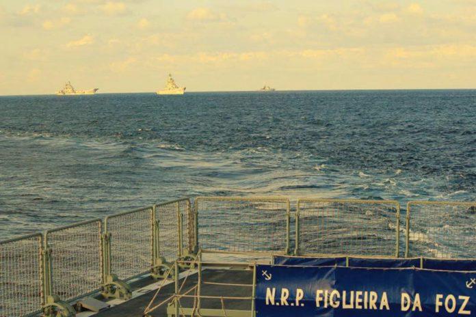 Marinha vigiou esquadra naval russa em trânsito por águas nacionais