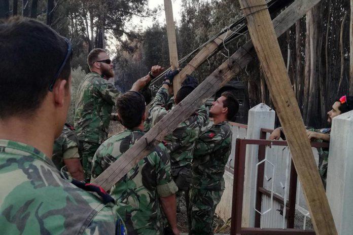 Fuzileiros em missão de apoio nos incêndios de Pedrógão Grande