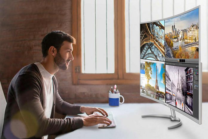 Philips com maior monitor curvo 4k do mercado