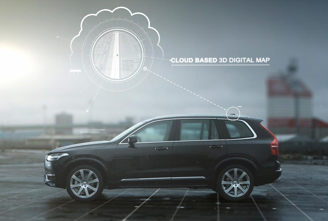 Volvo com mapa digital