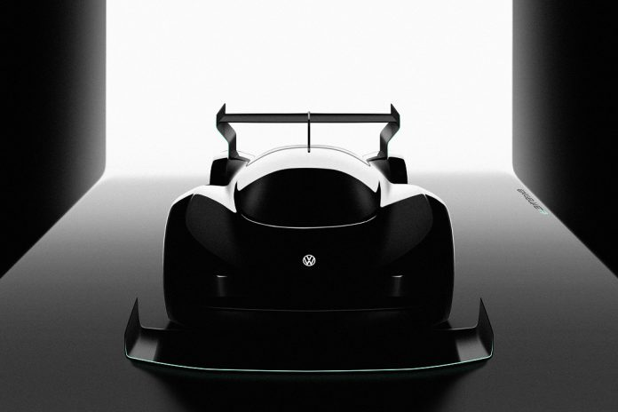 Carro elétrico de competição de montanha da Volkswagen