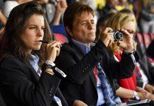Observadores técnicos da UEFA no EURO 2017 Feminino: Patricia González e Anne Noé