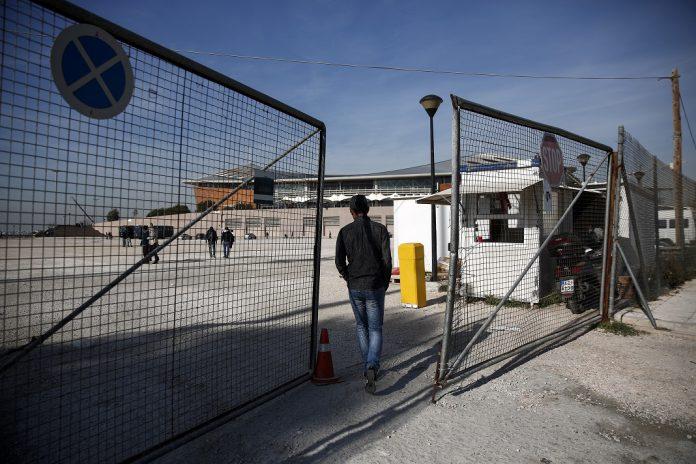 Campo temporário de refugiados em Atenas, na Grécia.