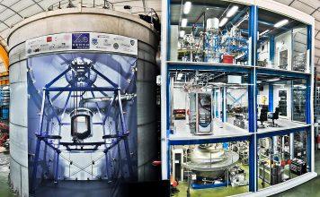 XENON1T instalado no Laboratório Nacional de Gran Sasso, Itália