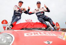 Jakub 'Kuba' Przygonsk, e Tom Colsoul vencem quinto lugar no Dakar 2018