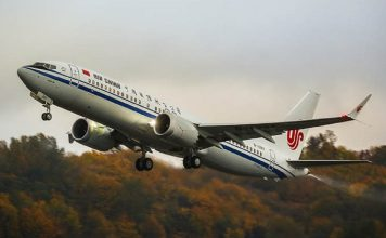 Primeiro Boeing 737 Max 8 concluído no centro de Zhoushan, entregue à Air China