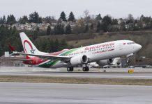 Boeing entrega primeiro avião 737 MAX 8 à Royal Air Maroc