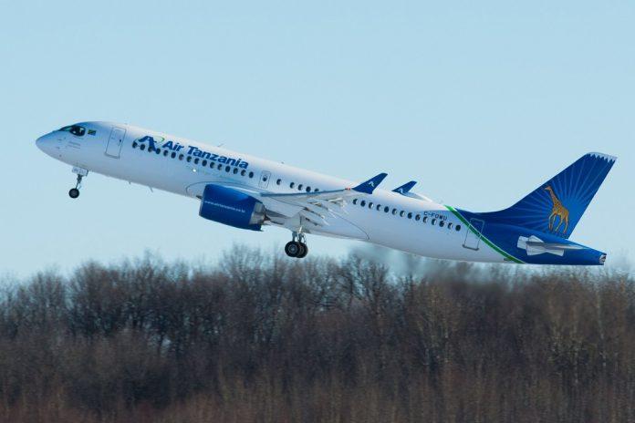 Air Tanzania recebe primeiro avião Airbus A220