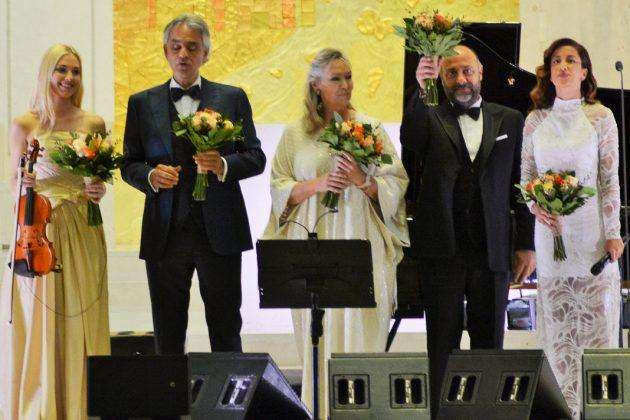 Anastasyia Petryshak, Andrea Bocelli, Elisabeth Sombart, Carlo Bernini e Ana Moura