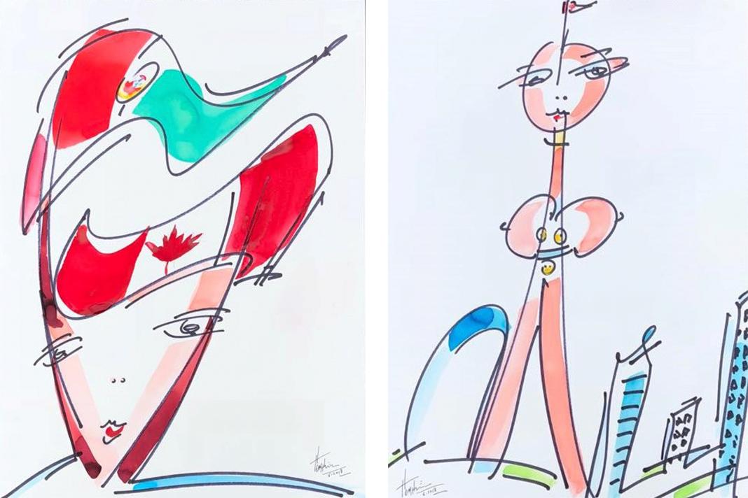 Obras do artista plástico Orlando Pompeu