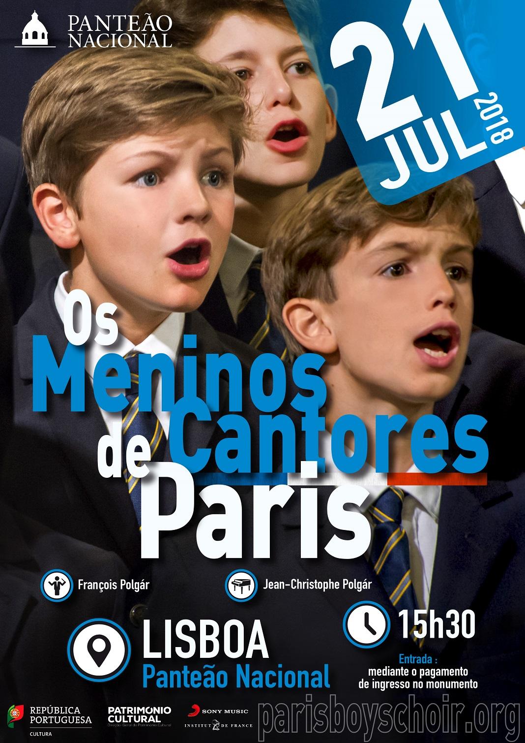 'Os Meninos Cantores de Paris' dão concerto no Panteão Nacional