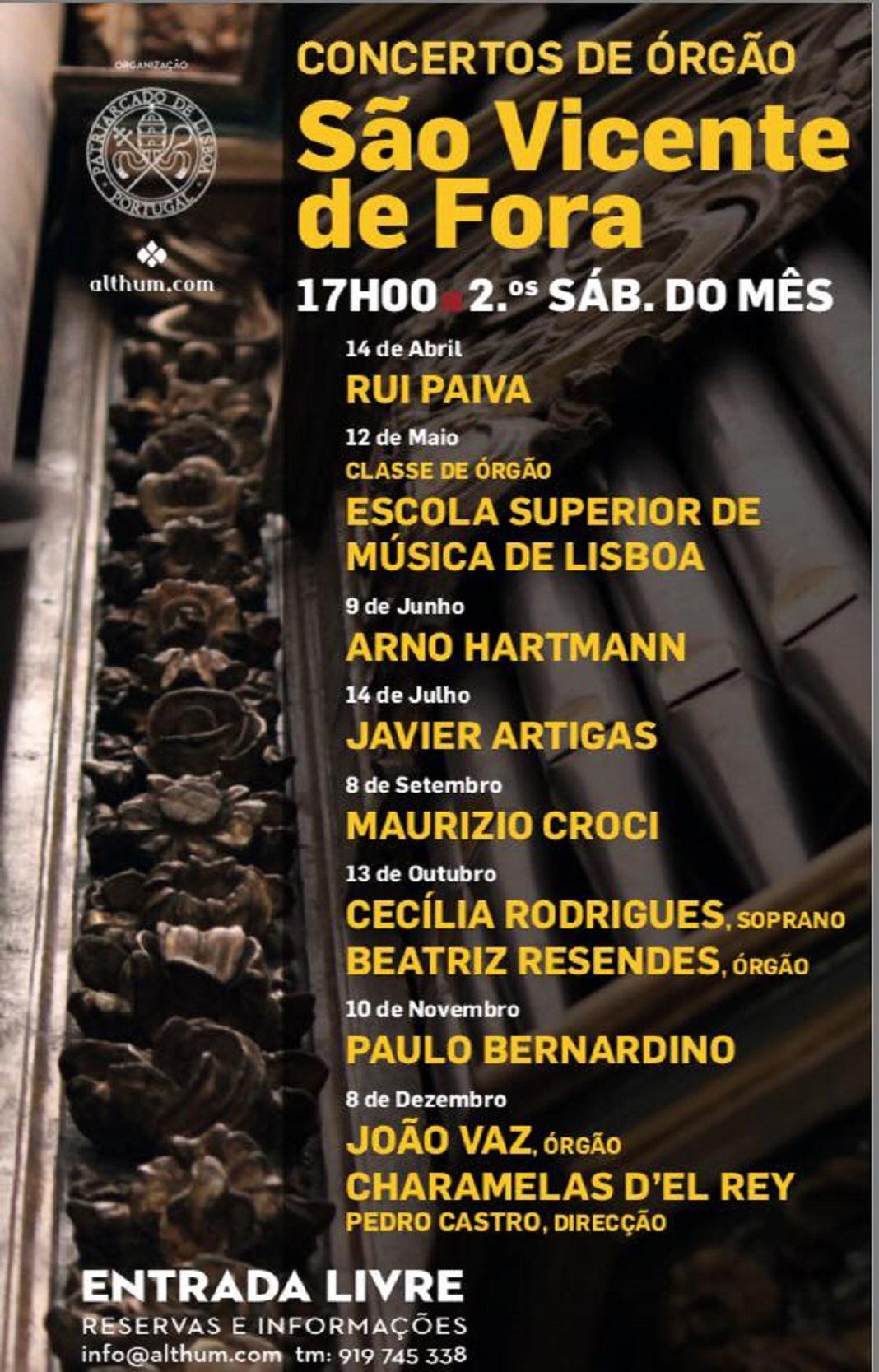 Maurizio Croci dá concerto na Igreja de São Vicente de Fora, Lisboa