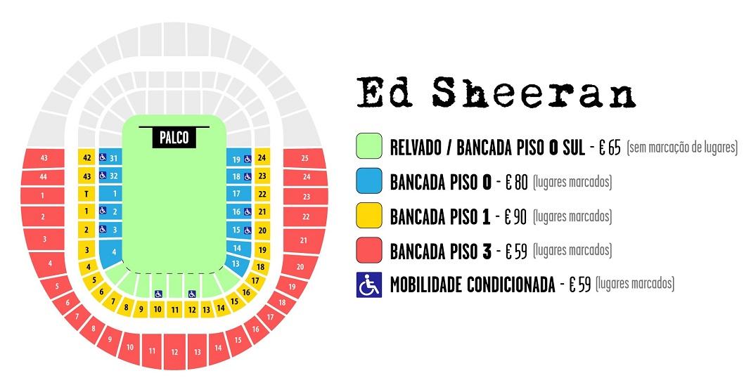 Concerto de Ed Sheeran no Estádio da Luz