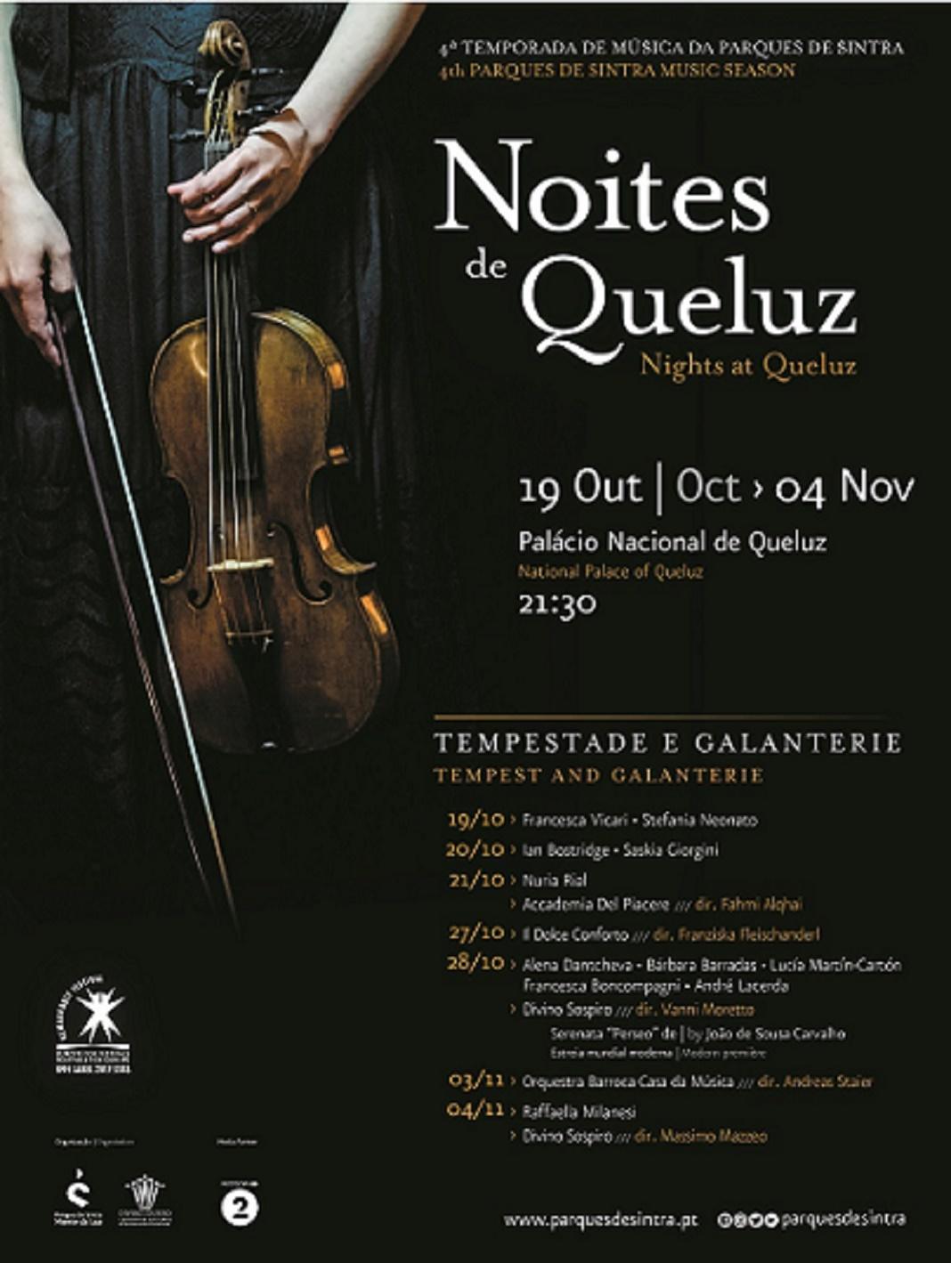 """""""Noites de Queluz – Tempestade e Galanterie"""" no Palácio de Queluz"""