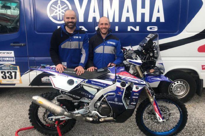 António Maio com nova Yamaha WR450F Rally no rali Merzouga