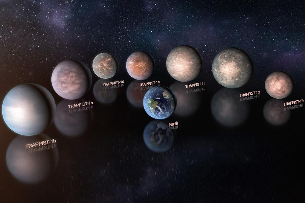 Planetas TRAPPIST-1 podem ser ricos em água