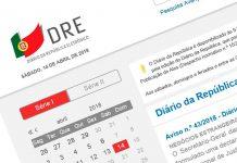 Diário da Republica com novas funcionalidades
